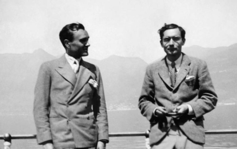 Picture of Partners in Design: Alfred H. Barr Jr. and Philip Johnson during one of their trips.