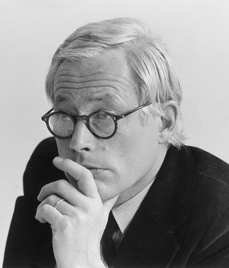 Portrait of Dieter Rams. German architect and one of the most influential industrial designers of the 20th century.