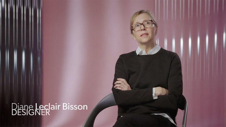 Image tirée de l'entrevue avec la designer Diane Bisson.