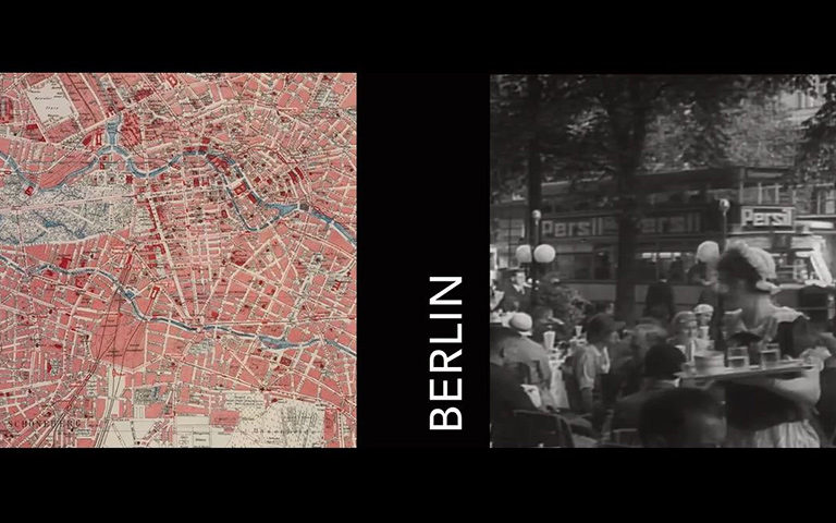 Map of Berlin, Germany