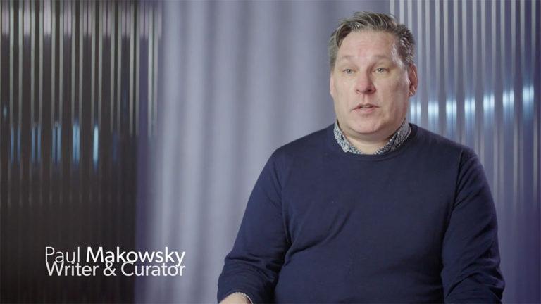 Image tirée de l'entrevue avec l'auteur et conservateur Paul Makowsky.
