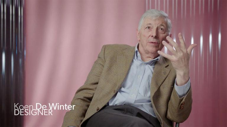 Image tirée de l'entrevue avec le designer Koen De Winter.