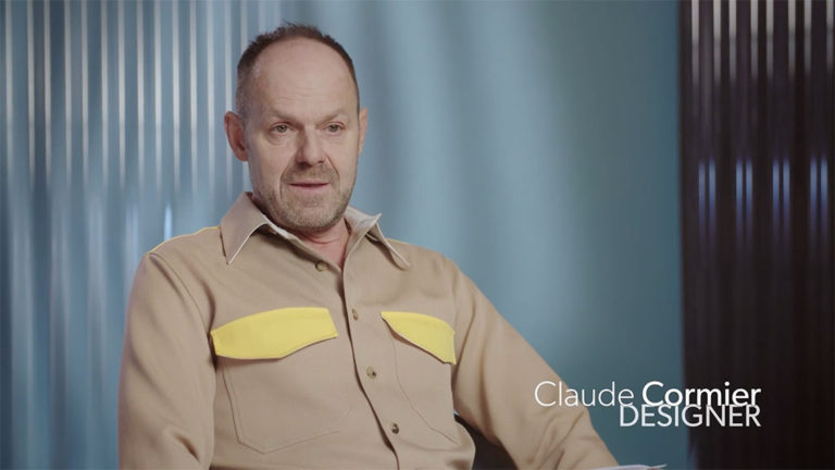 Image tirée de l'entrevue avec le designer Claude Cormier.