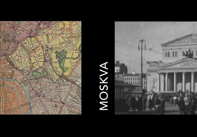 Map of Moscow, URSS