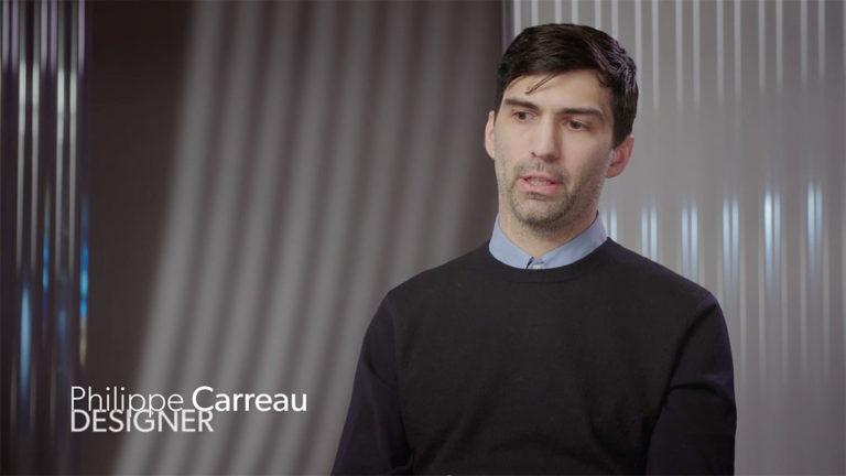 Image tirée de l'entrevue avec le designer Philippe Carreau.