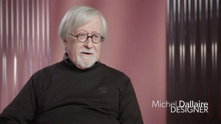 Image tirée de l'entrevue avec le designer Michel Dallaire.